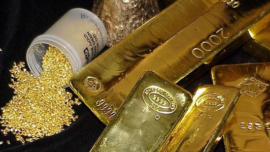 Harga emas dunia naik. ist