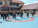 Jelang Pilkada, Polres Soppeng Perkuat Fisik Anggota