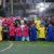 HA Mustaman berfoto bersama dengan pemain futsal Kajuara Cup 2016 di Lapangan Futsal Telkom, Rabu (26/10/2016)