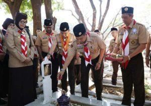 Hari Pramuka ke 58 dan RI 74, Pj Walikota Makassar Pimpin Ziarah ke TMP Panaikang