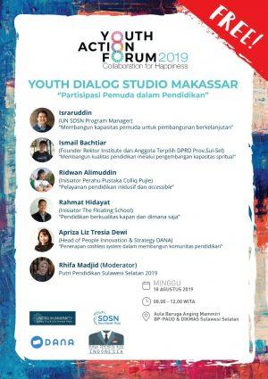 United In Diversity Bersama Rumah Pemimpin Muda Gelar Youth Dialog Studio di Makassar