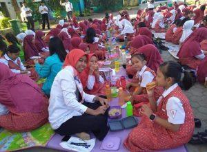 Ciptakan Generasi Sehat, SDN Percontohan PAM Makassar Rutin Gelar Sarapan Bersama