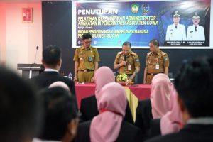 Sekda Gowa Tutup Diklat Kepemimpinan Administrator Angkatan IX Gowa