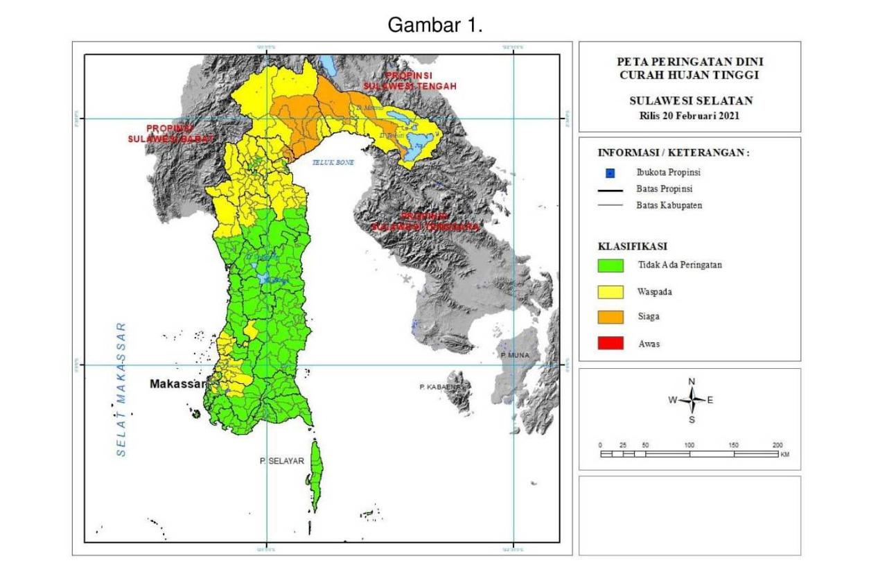 Status SIAGA Cuaca Ekstrim di Luwu Utara, Waspada di Enam Wilayah Ini
