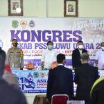 Wakil Bupati, Suaib Mansur Buka Kongres Askab PSSI Luwu Utara
