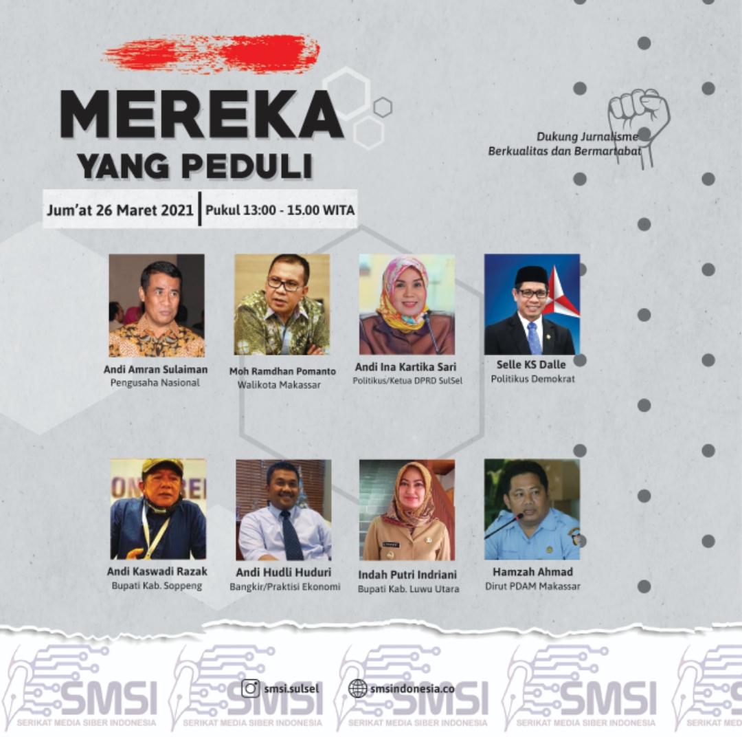 Mereka Tokoh dan Kepala Daerah Peduli Pers Terima Award dari SMSI Sulsel