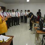 Rektor UNM, Prof Husain Syam memantau langsung pelaksanan UTBK SBMPTN 2021 di Kampusnya